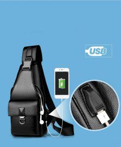 Tas Selempang USB Pria Import Terbaru