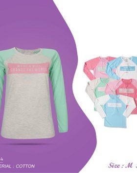 Baju Kaos ABG Wanita Lengan Panjang Terbaru Size M GB232