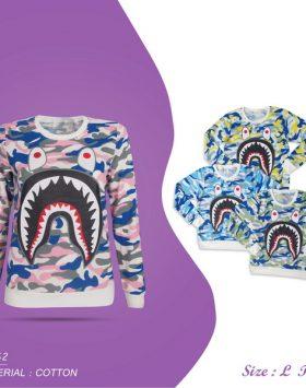 Sweater Wanita Full Printing Model Terbaru Modis