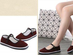 Sepatu Import Mary Jane Merah Toska SPT143
