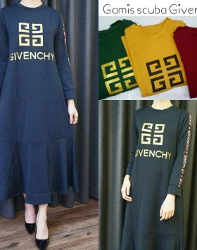 Baju Dress Lengan Panjang Branded GJD 046