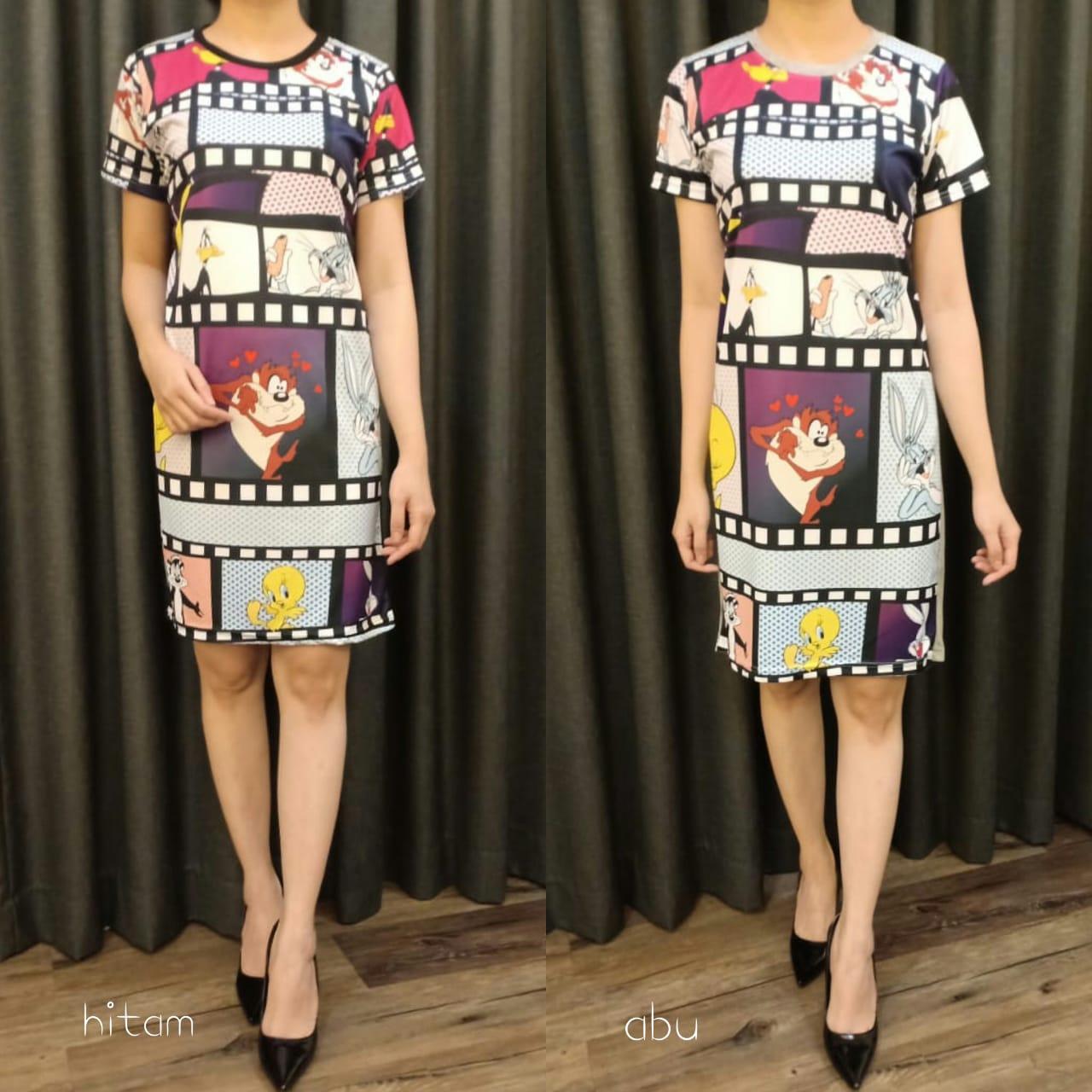 Baju Dress Lengan Pendek Terbaru GJD 051