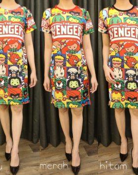 Baju Dress Terbaru Lengan Pendek GJD 050