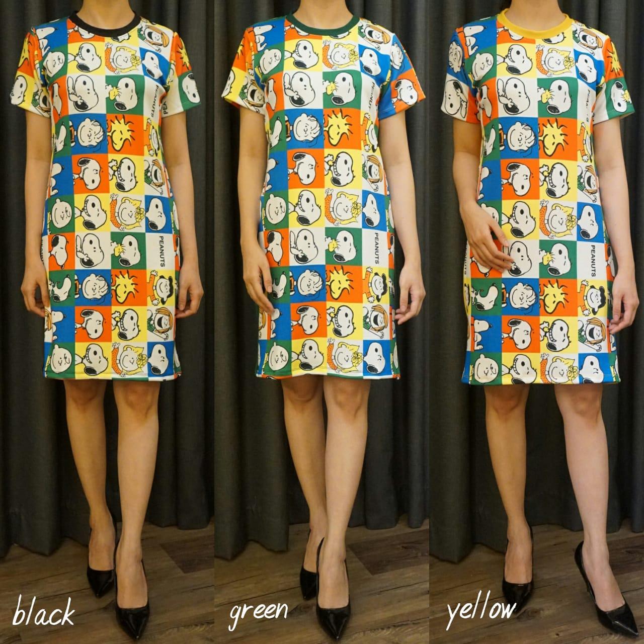 Dress Bahan Scuba Lengan Pendek GJKW119