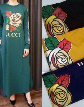 Dress Lengan Panjang Branded GJD 047