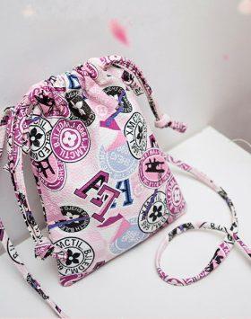 Tas Serut Kecil Import GJT226 Warna Pink 1