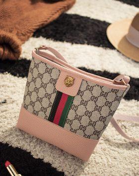 Tas Wanita Tote Bag Kecil Import GJT229 Pink