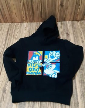 Hoodie Anak Hitam Mickey Mouse