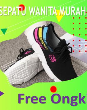 Sepatu Sport Cewek Kekinian Warna Hitam