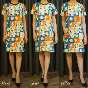 Dress Bahan Scuba Lengan Pendek GJD 042