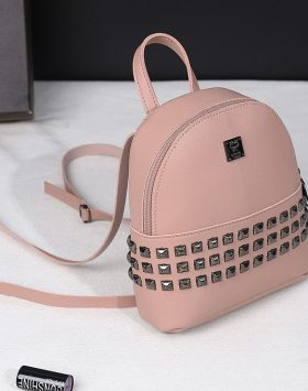 Ransel Spike Import Fashion Cewek Terlaris Harga Grosir GJTW 424 Pink