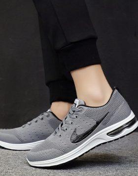 Fashion Pria Sepatu Running Branded Terlaris Warna Abu Abu GJ 496 02