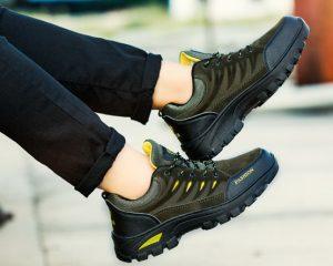 Harga Promo Sepatu Pendaki Import Fashion Cowok Warna Hijau