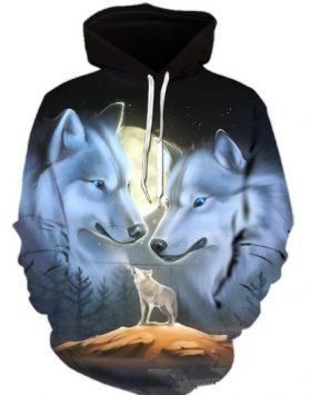 Jaket 3 Dimensi Sweater Hoodie 3d Serigala