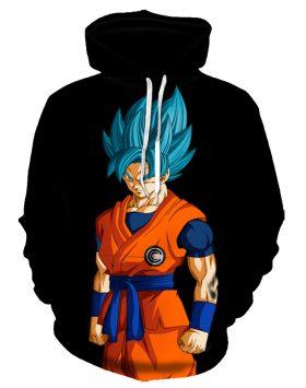 Jaket 3 Dimensi Sweater Hoodie Dragon Ball Goku 3d