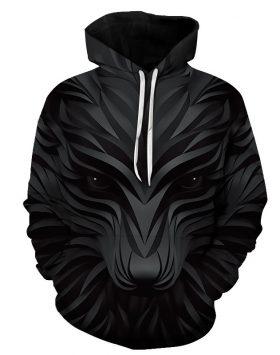 Jaket 3 Dimensi Sweater Hoodie Serigala 3d Import Harga Murah