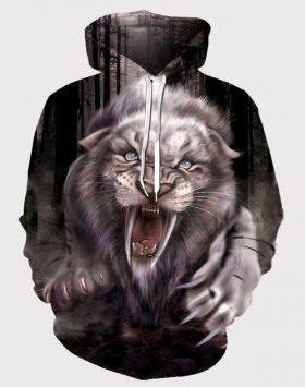 Jaket Sweater 3 Dimensi Hoodie 3d Gambar Singa