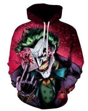 Jaket Sweater Hoodie 3d Gambar Joker 3 Dimensi