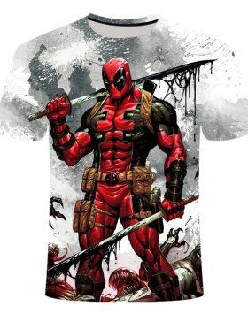 Kaos 3 Dimensi Deadpool Baju Gambar 3d