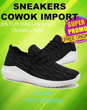 Sneakers Cowok Import Sepatu Olahraga Running Murah