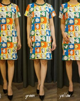 Dress Lengan Pendek Elegan Harga Grosir