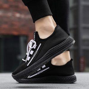 Sepatu Sneakers Cowok Import Model Jaring