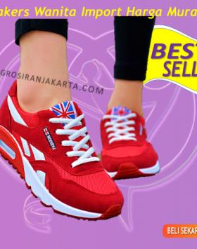Sneakers Import Wanita Sepatu Olahraga