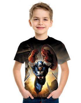 Baju Anak Superhero Captain America 3d