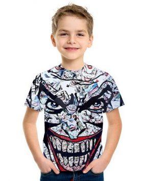 Baju Kaos Anak 3d Joker Lengan Pendek