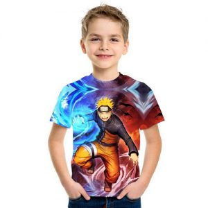 Baju Kaos Anak 3d Kartun Naruto
