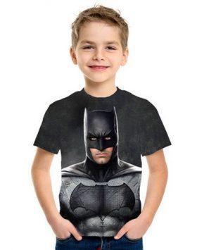 Baju Kaos Batman Anak 3d Tidak Bersayap