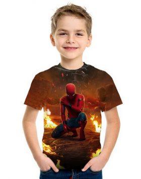 Baju Kaos Spiderman 3d Anak Kecil