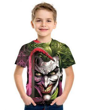 Kaos Baju Anak 3d Joker Lengan Pendek