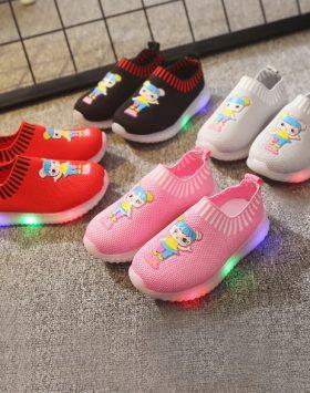 Sepatu Lampu Led Anak Perempuan lol Murah