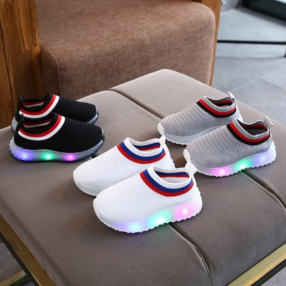 Sepatu Slip On Anak Nyala Lampu Led Murah