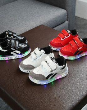 Sepatu Sport Casual Anak Lampu Led Harga Murah
