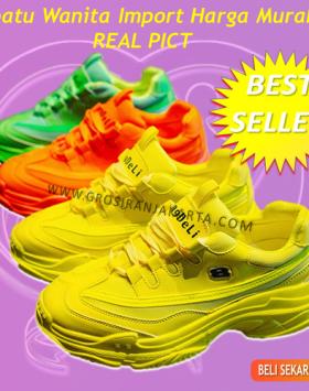 Sepatu Wanita Import Terbaru Sneakers Kekinian