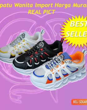 Sepatu Wanita Sneakers Asli Import Trend Masa Kini