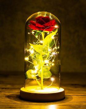 Hiasan Led Bunga Mawar Merah Kado Ulang Tahun Natal