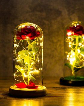 Lampu Bunga Mawar Dalam Tabung Kado Ulang Tahun