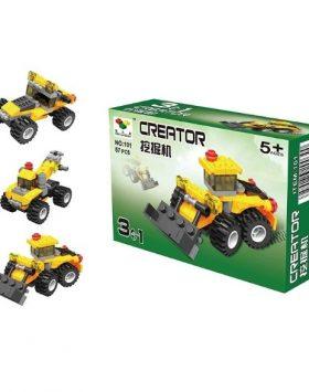 Mainan Anak Lego 3 In 1 Excavator Alat Berat