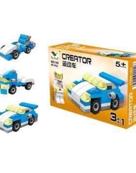 Mainan Edukasi Anak Lego 3 In 1 Mobil Balap