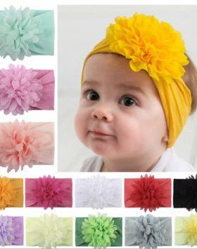 Bandana Pita Bayi Bunga Besar