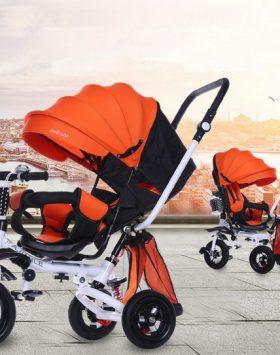 Sepeda Stroller Roda 3 Anak Bayi Multifungsi