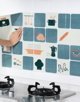 Stiker Wallpaper Dapur Anti Minyak Tahan Panas Api