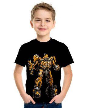 Kaos Anak Murah Karakter Bumblebee 3d Import