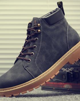 Sepatu Boots Pria Kulit PU Import Berkualitas