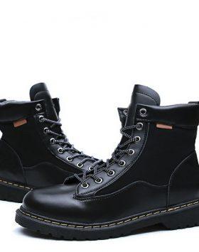 Sepatu Pria Tinggi Warna Hitam Terbaru