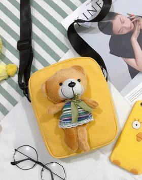 Tas Selempang Boneka Beruang Import