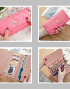 Dompet Wanita Panjang Murah Warna Pink
